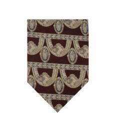 Dolce & Gabbana Burgundy Elegant Striped Tie