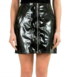 Black  Zipper Mini Skirt