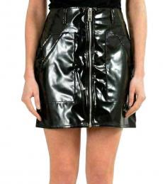 Versus Versace Black  Zipper Mini Skirt