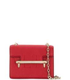 Valentino Garavani Red Embossed Logo Small Crossbody