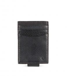 Black Oil-Milled Passcase Wallet