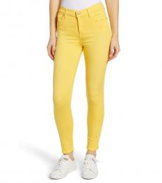 7 For All Mankind Yellow High-Rise Skinny Jeans