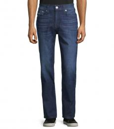 Dark Blue Relaxed-Fit Jeans