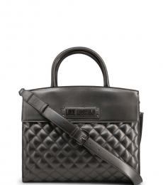 Metal Quilted Large Satchel