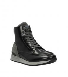Hogan Black Grey High Top Sneakers