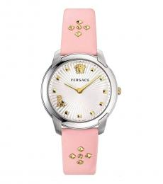 Versace Pink Audrey Silver Dial Watch