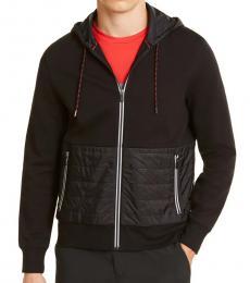 Michael Kors Black Padded Full-Zip Hoodie