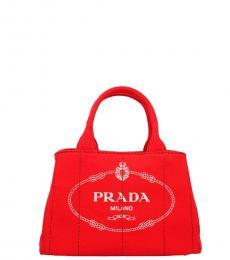 Prada Red Logo Small Satchel