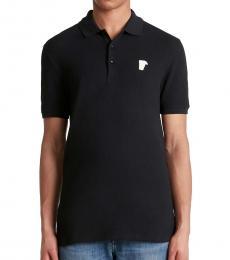 Versace Collection Black/White Medusa Logo Polo