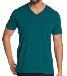 Teal Theraponew V-Neck T-Shirt