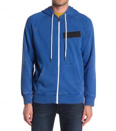 Diesel Turquoise Hooded Zip Sweatshirt
