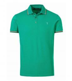 Trussardi Dark Green Logo Classic Polo