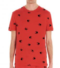 McQ Alexander McQueen Red stampa all over t-shirt