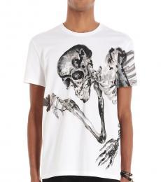 White Skeleton Flower T-Shirt