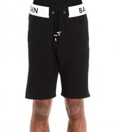 Balmain Black Logo Active Shorts