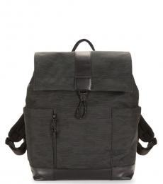 Cole Haan Black Ballistic Large Backpack