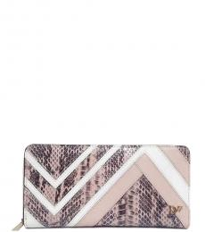 Diane Von Furstenberg Blossom Patchwork Zip Around Wallet