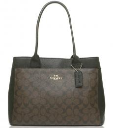 Coach Brown Black Casey Large Tote
