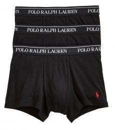 Ralph Lauren Black 3-Pack Classic Trunks