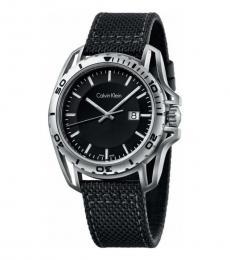 Calvin Klein Black Earth Nylon Watch