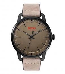 Hugo Boss Beige Brown Dial Watch