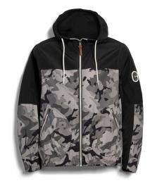 Camo Grey Black Windbreaker Jacket