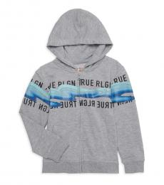 True Religion Little Boys Grey Logo Graphic Hoodie