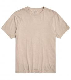 Light Brown Washed Jersey T-Shirt