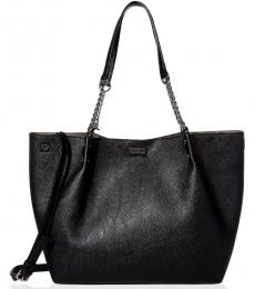 Black/Grey Reversible Large Tote