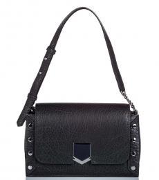 Black Locket Studs Medium Shoulder Bag