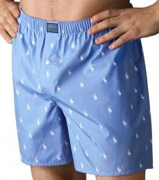 Ralph Lauren Blue Woven Boxer Shorts