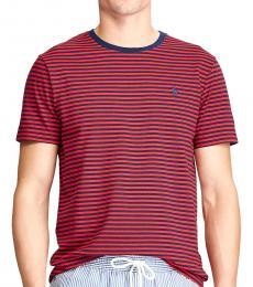 Ralph Lauren Red Custom Slim Striped T-Shirt
