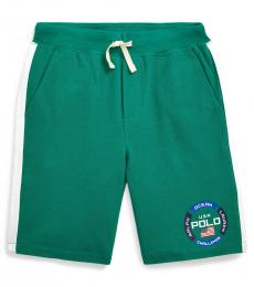 Boys Chroma Green Mesh Graphic Shorts