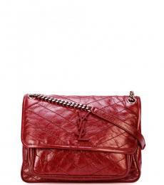 Saint Laurent Red Niki Large Shoulder Bag
