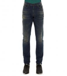 Saint Laurent Dark Blue Skinny Fit Jeans