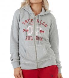True Religion Heather Grey Logo Hoodie