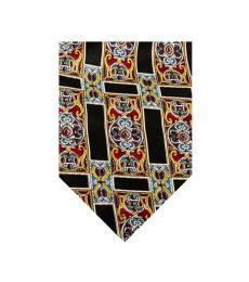 Dolce & Gabbana Black-Burgundy Classic Tie