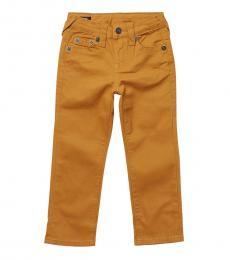 True Religion Little Boys Gold Khaki Geno Overdye Jeans