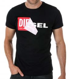 Diesel Black Graphic Logo T-Shirt