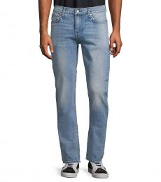 7 For All Mankind Light Blue Classic Slim-Fit Jeans