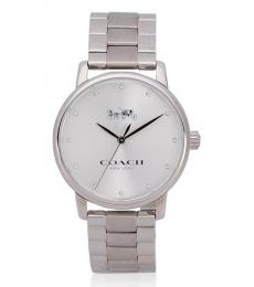 Coach Silver Logo Watch