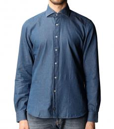 Fay Blue Casual Denim Shirt