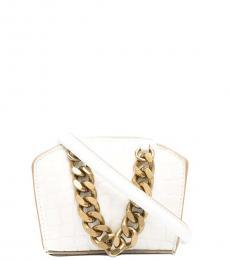 Stella McCartney White Chain Mini Crossbody Bag