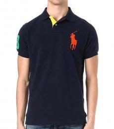 Ralph Lauren Navy Blue Custom Fit Logo Polo