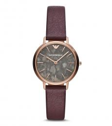 Emporio Armani Cherry Marble Dial Watch