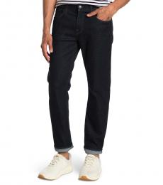 7 For All Mankind Navy Blue Slimmy Slim Fit Jeans