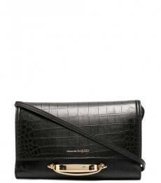 Alexander McQueen Black The Story Small Shoulder Bag