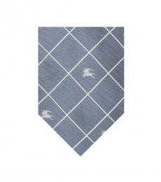 Burberry Grey bluish Cris-Cross Logo Tie