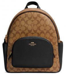 Coach Khaki Court Large Backpack