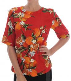 Dolce & Gabbana Coral Embellished Top